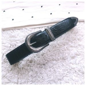 'Bardot' Silver Concho Buckle Western Leather Belt